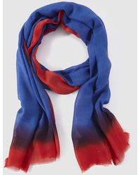 Gloria Ortiz - Blue And Red Wool And Silk Foulard - Lyst