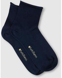 Punto Blanco - Plain-coloured Roll-top Socks - Lyst