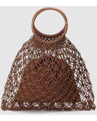 El Corte Inglés Brown Crochet Handbag