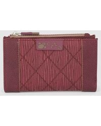 Caminatta - Medium Burgundy Wallet With Fastener - Lyst