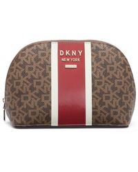 DKNY Multicoloured Toiletry Bag With Zip - Multicolor