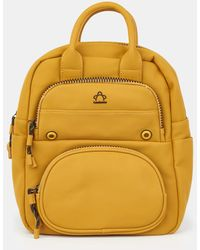 Caminatta - Mustard Backpack With Outer Pockets - Lyst
