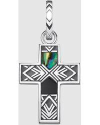 Thomas Sabo Colgante De Hombre Rebel Cruz De Plata Y Nácar - Multicolor