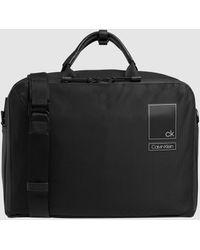 Calvin Klein Portadocumentos De Hombre En Negro Con Cierre De Doble Cremallera