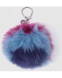 Gloria Ortiz - Multicoloured Fur Charm Keyring With Pompom - Lyst