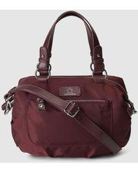 Caminatta - Burgundy Nylon Bowling Bag With A Detachable Strap - Lyst