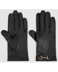 El Corte Inglés Black Leather Gloves With Chain