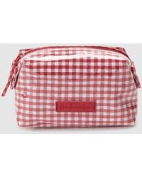 El Corte Inglés Small Red Gingham Print Toiletry Bag