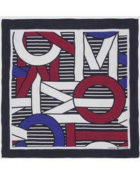 Tommy Hilfiger Navy Blue Handkerchief With Brand Print