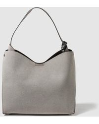 El Corte Inglés - Grey Hobo Bag With Side Pleats - Lyst