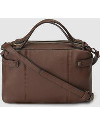 El Corte Inglés - Brown Bowling Bag With Side Studs - Lyst