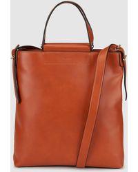 Jo & Mr. Joe - Metric Cognac Tote Bag With Side Pompom - Lyst
