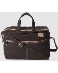 Caminatta - Brown Briefcase With Zip - Lyst