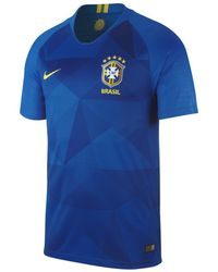 df1312469c Lyst - Nike 2018 Brazil Cbf Stadium Home Football Shirt in Metallic ...