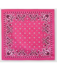 El Corte Inglés Classic Fuchsia Bandanna With Contrasting Paisley - Pink