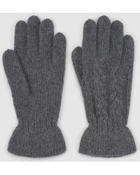 El Corte Inglés Gray Knitted Gloves With Gathering