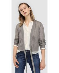 indi & cold - Cardigan With Front Knot - Lyst