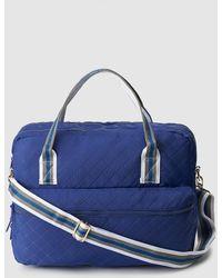 El Corte Inglés - Blue Nylon Briefcase With Tricoloured Handles - Lyst