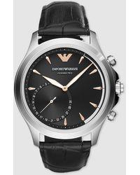 Emporio Armani - Art3013 Smartwatch Leather Watch - Lyst