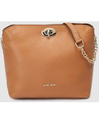 96406ccb0d1 Gloria Ortiz - Cybill Camel-coloured Leather Square Crossbody Bag With Clasp  - Lyst