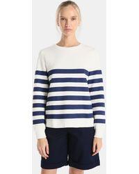 Yera - Long Sleeve Sailor Stripe Print Sweatshirt - Lyst