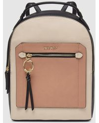 Nine West Three-tone Shopper Bag In Nude, Pink And Black With Zip