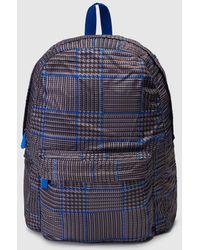 El Corte Inglés - Fold-up Nylon Backpack With Tartan Print - Lyst