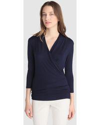 Lauren by Ralph Lauren - Long Sleeve Navy Blue T-shirt - Lyst