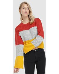 Noisy May Jersey Crop Tricolor De Mujer - Multicolor