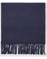 GANT - Mens Plain Navy Blue Wool Scarf - Lyst