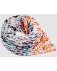 Esprit Multicoloured Animal Print Foulard In Pastel Tones - Multicolor