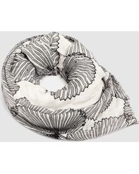 Esprit White Foulard With A Contrasting Print