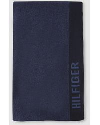 Tommy Hilfiger Bufandas De Hombre En Azul Marino Con Logo