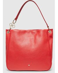 Gloria Ortiz Gianni Red Leather Hobo Bag With Magnet