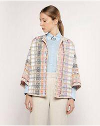Mirto Wo Green Tweed Jacket - Multicolor