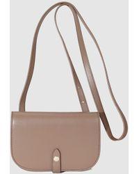 Gloria Ortiz - Heritage Small Taupe Leather Crossbody Bag - Lyst