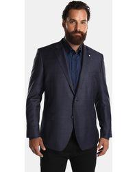 Mirto - Big And Tall Regular-fit Blue Checked Blazer - Lyst