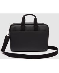 Lacoste Black Portfolio With Zip And A Long Additional Strap