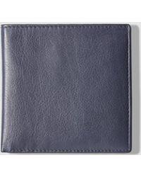 El Corte Inglés - Mens Navy Blue Leather Wallet - Lyst