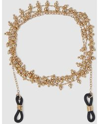 El Corte Inglés Gold Beads Glasses Cord - Metallic