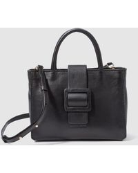 Gloria Ortiz - Livia Small Black Leather Tote Bag With A Long Strap - Lyst