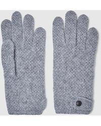 El Corte Inglés Gray Moss Stitch Gloves