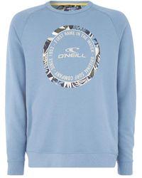 O'neill Sportswear Oneill Makena Crew Sweatshirt - Blue
