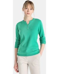 James Perse - Long Sleeve Button-neck Sweater - Lyst