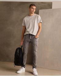 Green Coast Mens Grey Extra Skinny Jeans