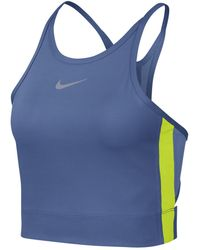 a6f8ce8bb8c4 Nike Essential Printed Stretch-jersey T-shirt in Pink - Lyst