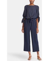 Lauren by Ralph Lauren - Long Stripe Print Jumpsuit - Lyst