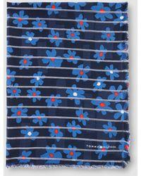 Tommy Hilfiger - Blue Printed Scarf - Lyst