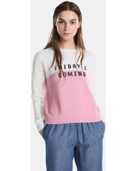 Green Coast - Two-tone Sweater With Text - Lyst