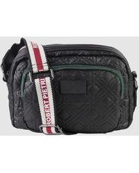 Robert Pietri - Black Nylon Crossbody Bag With A Long Adjustable Strap - Lyst